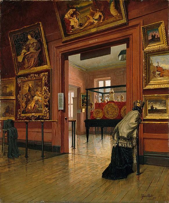 Frank Waller - Interior View of the Metropolitan Museum of Art when in Fourteenth Street. Metropolitan Museum: part 1