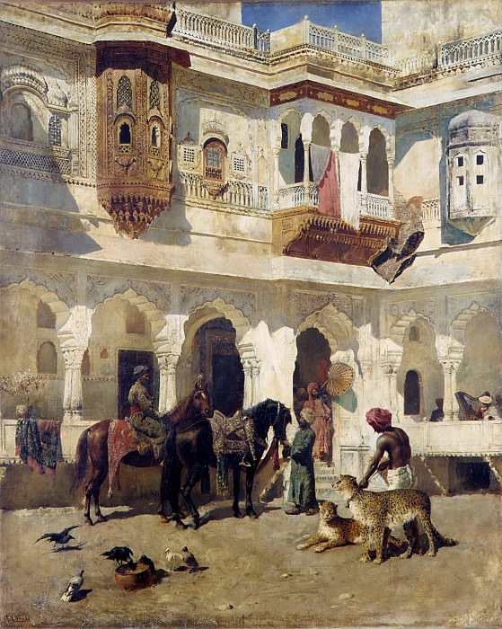 Edwin Lord Weeks - The Rajah Starting on a Hunt. Metropolitan Museum: part 1