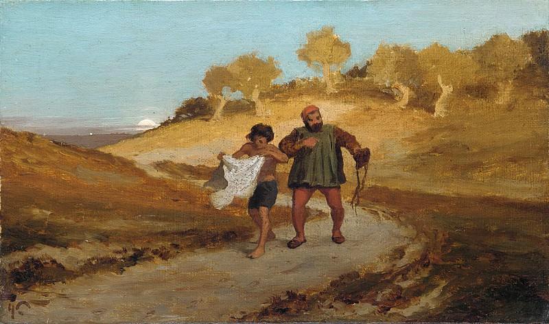 Элиу Веддер - Басня о мельнике, его сыне и осле. Музей Метрополитен: часть 1