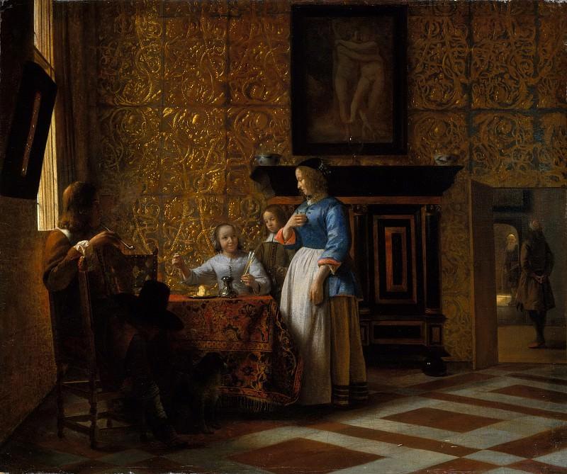 Pieter de Hooch - Leisure Time in an Elegant Setting. Metropolitan Museum: part 1