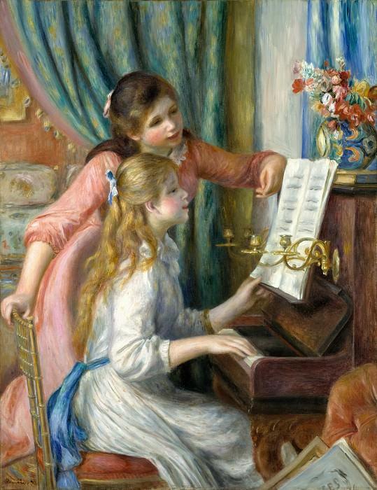 Огюст Ренуар - Две молодые девушки у фортепиано. Музей Метрополитен: часть 1