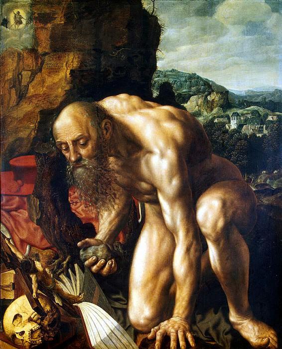 Hemessen, Jan Sanders van. Repentant St. Jerome. Hermitage ~ part 13