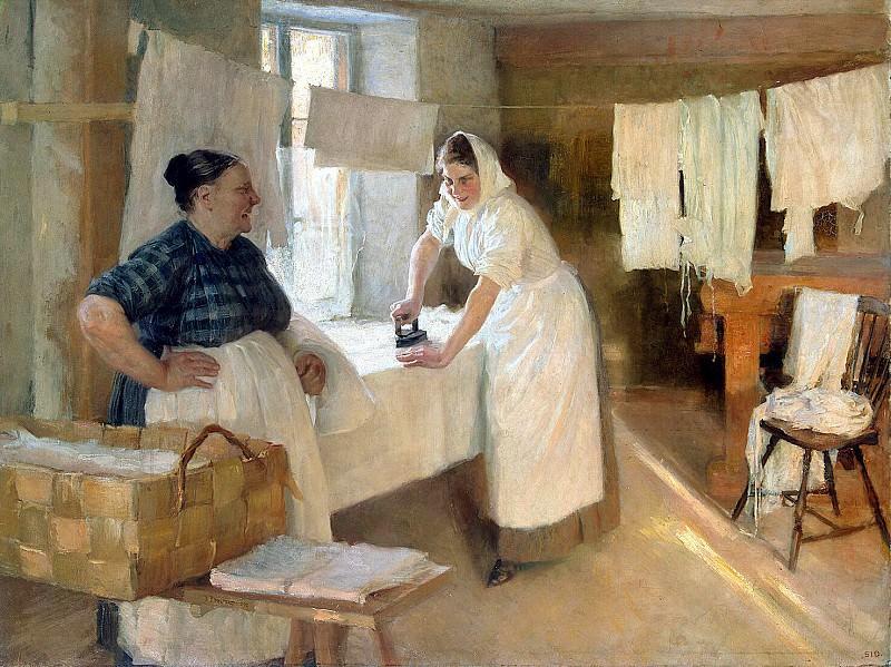 Edelfelt, Albert. Washerwomen. Hermitage ~ part 13