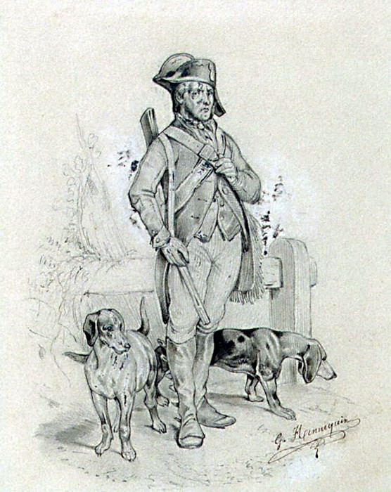 Hanneken, G.. Etude soldier with dogs. Hermitage ~ part 13