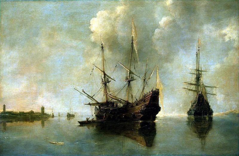 Ertfelt, Andris van. Two ships at anchor. Hermitage ~ part 13