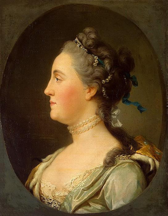 Eriksen, Virgilius. Portrait of Catherine II in profile. Hermitage ~ part 13