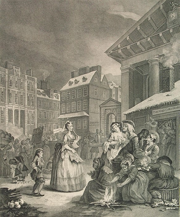 Hogarth, William. Morning. Page 1. Hermitage ~ part 13