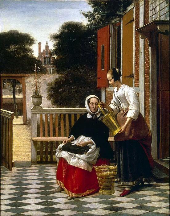Hooch, Pieter de. Mistress and maid. Hermitage ~ part 13