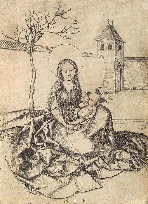 Schongauer, Martin. Madonna in the yard. Hermitage ~ part 13