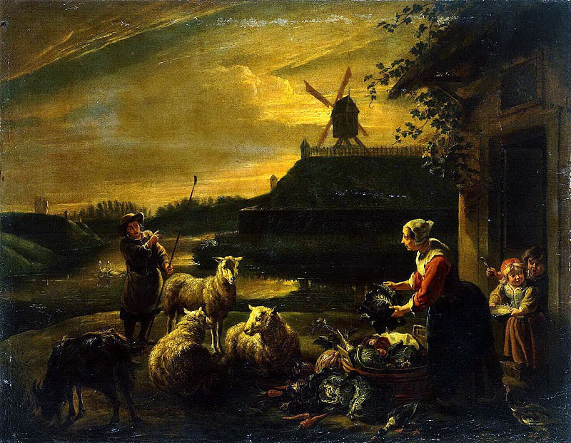 Herpa, Willem van. Peasant Yard. Hermitage ~ part 13
