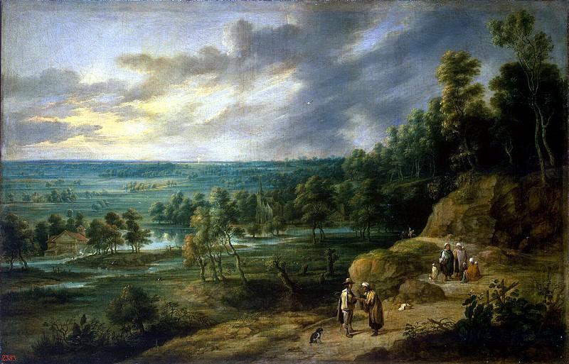 adjust it, Lucas van. Landscape with a fortune-teller. Hermitage ~ part 13