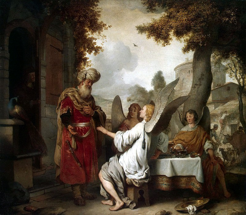 Ekhaut, Gerbrandt Jansz van den. Abraham and three angels. Hermitage ~ part 13
