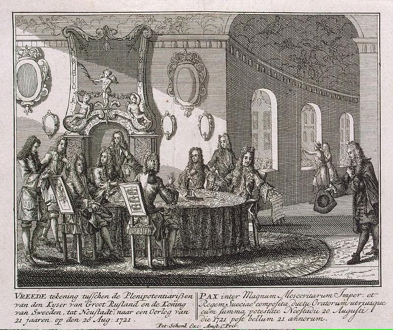 Шенк, Петер - Подписание мирного договора в Ништадте 20 августа 1721 года. Эрмитаж ~ часть 13