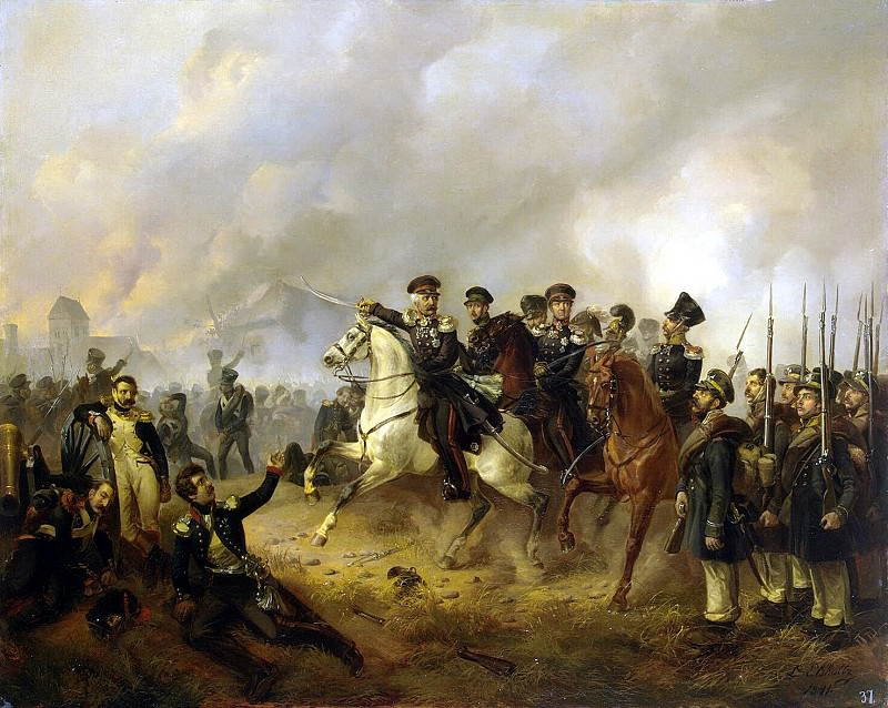 Elsholts, Ludwig. Blucher on the battlefield. Hermitage ~ part 13