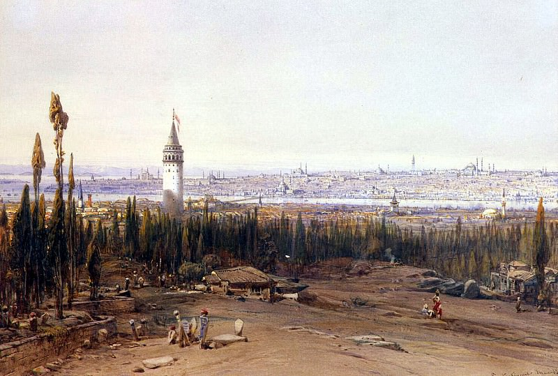 Hildebrandt, Eduard. View of Constantinople by the cemetery. Hermitage ~ part 13