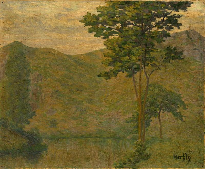 Erben, Auguste. Green landscape. Hermitage ~ part 13