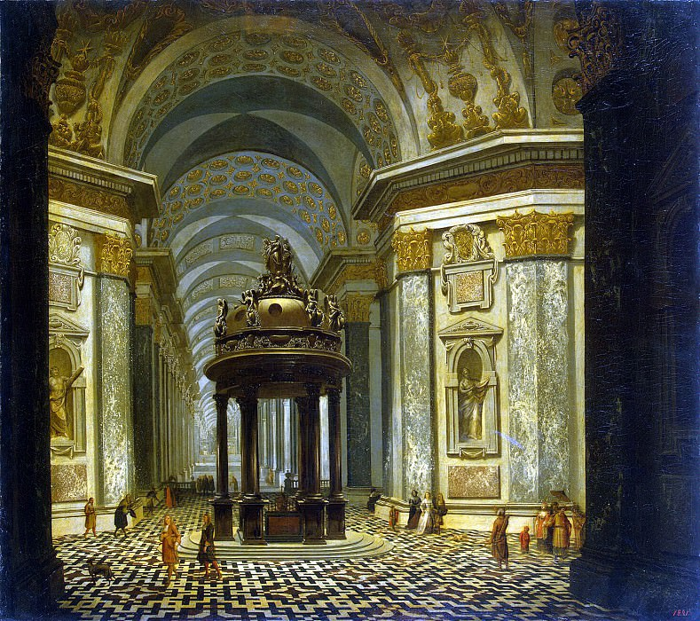 Ehrenberg, Wilhelm van. Internal view of the church. Hermitage ~ part 13