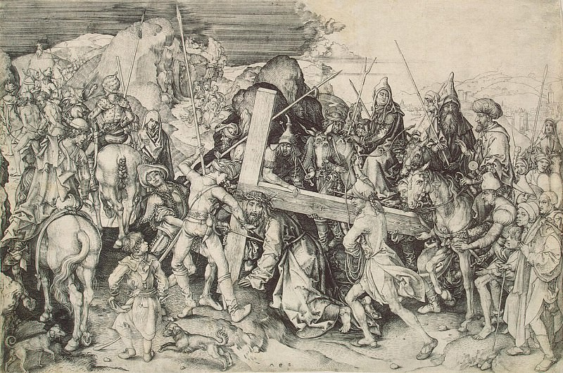 Schongauer, Martin. Large carrying the cross. Hermitage ~ part 13