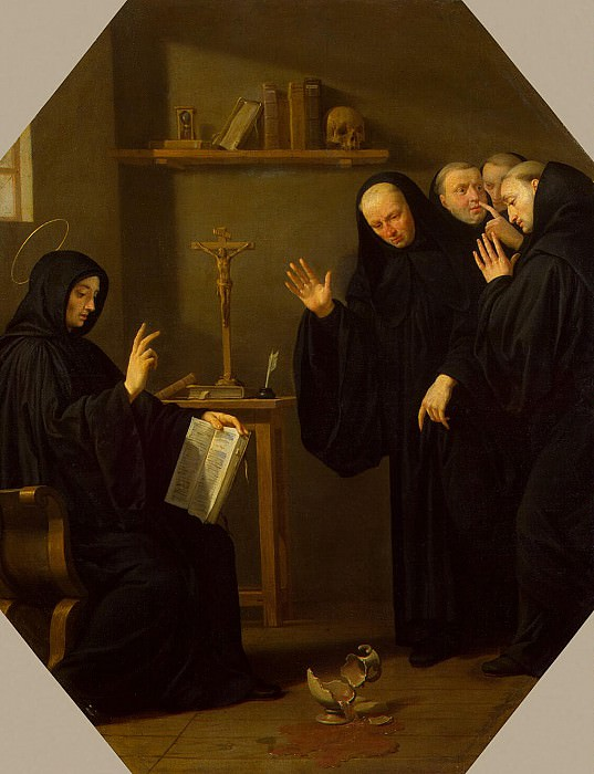 Shampen, Philippe de. A scene from the life of St. Benedict of Nursia. Hermitage ~ part 13