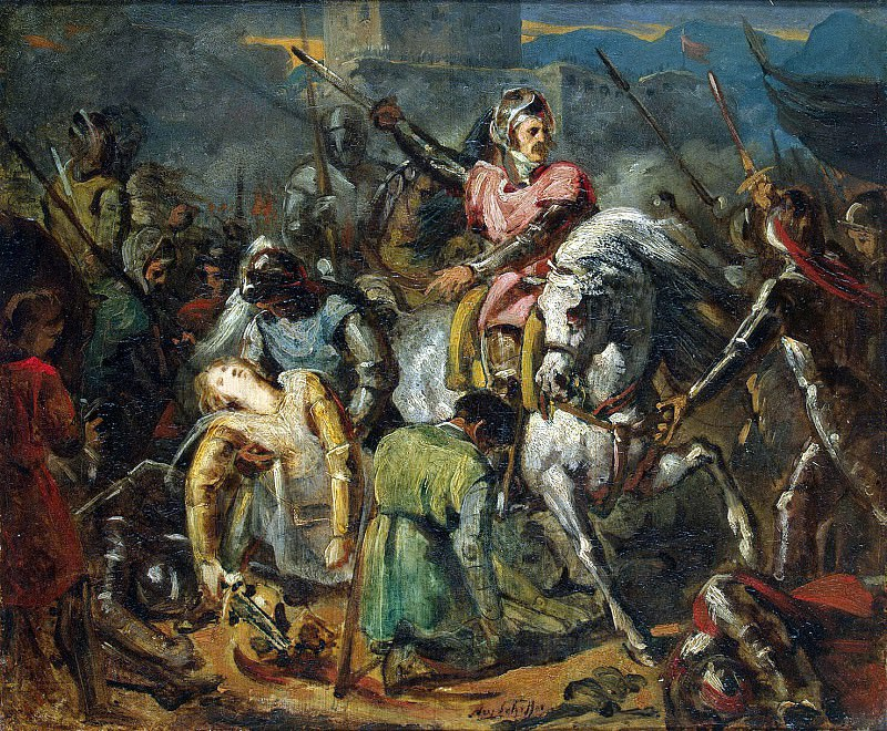 Sheffer, Ari. The death of Gaston de Foix in the Battle of Ravenna, 11 April 1512. Hermitage ~ part 13