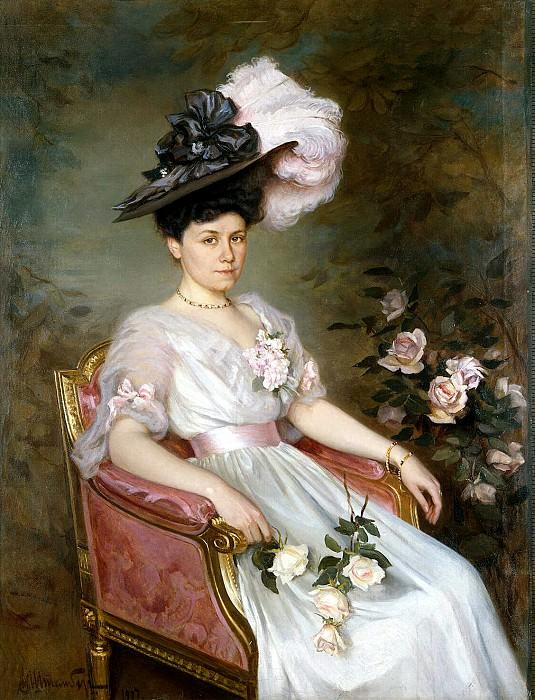 Shtemberg, Viktor Karlovich. Portrait of Sophia Mikhailovna Raevskaya. Hermitage ~ part 13