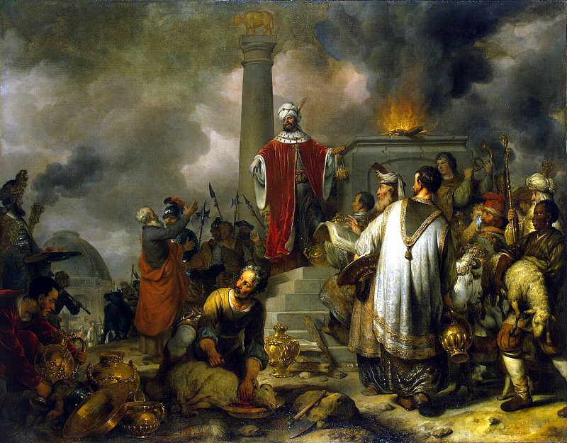 Экхаут, Гербрандт Янс ван ден - Жертвоприношение Иеровоама в Вефиле. Эрмитаж ~ часть 13