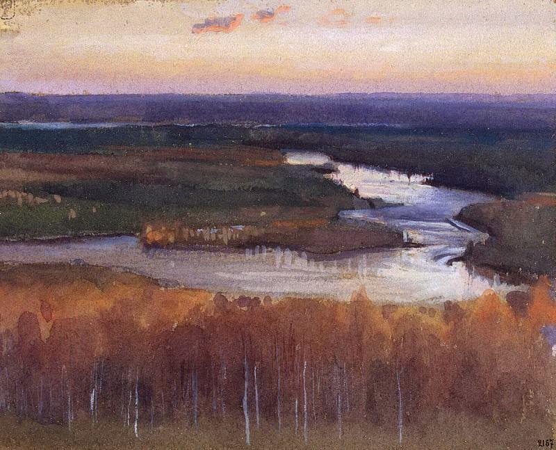 Ярнефельт, Ээро Николаи - Речной пейзаж осенью. Эрмитаж ~ часть 13