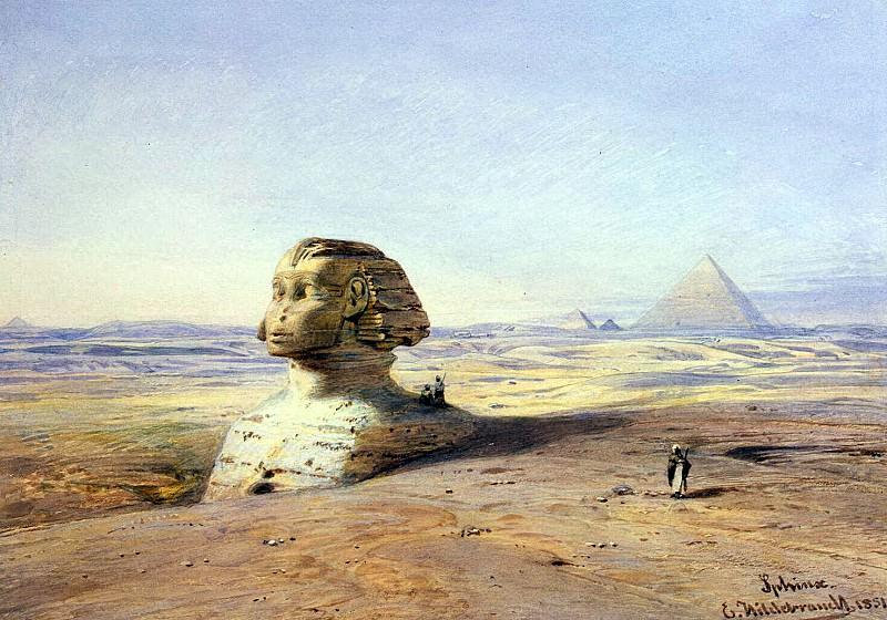 Hildebrandt, Eduard. Big Cfinks the pyramids of Giza. Hermitage ~ part 13