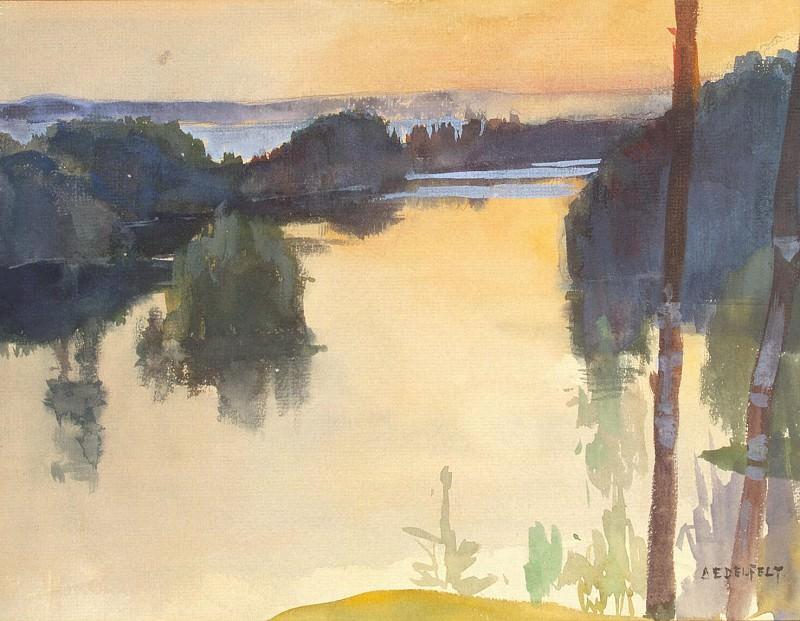 Edelfelt, Albert. Landscape. Hermitage ~ part 13