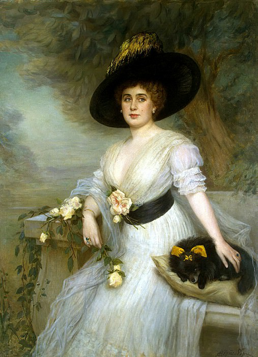 Shtemberg, Viktor Karlovich. Portrait of Baroness DE Grevenits. Hermitage ~ part 13