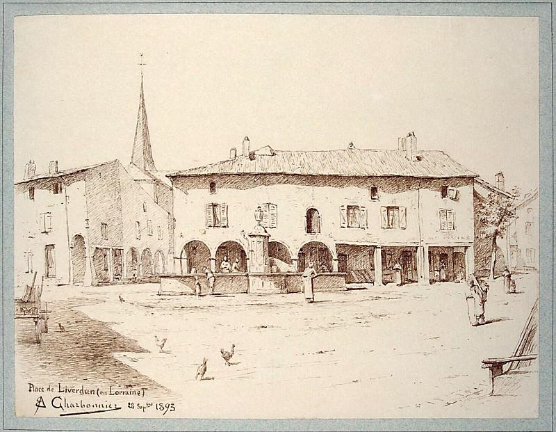 Charbonnier, A.-E .. The area in Liverdene in Lorraine. Hermitage ~ part 13