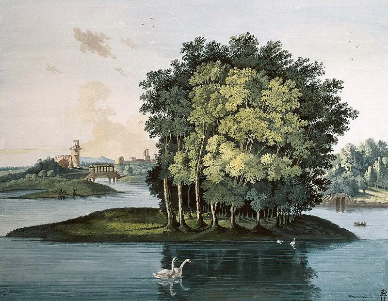 Щедрин, Семен Федорович - Остров на Большом пруду в Царскосельском парке. Эрмитаж ~ часть 13