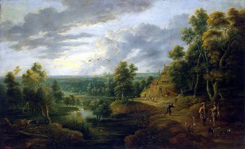 adjust it, Lucas van. Landscape with hunters. Hermitage ~ part 13