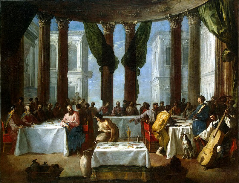 Schonfeld, Johann Heinrich. Marriage at Cana. Hermitage ~ part 13