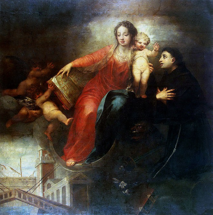 Celeste, Andrea. Madonna and Child with St. Anthony. Hermitage ~ part 13
