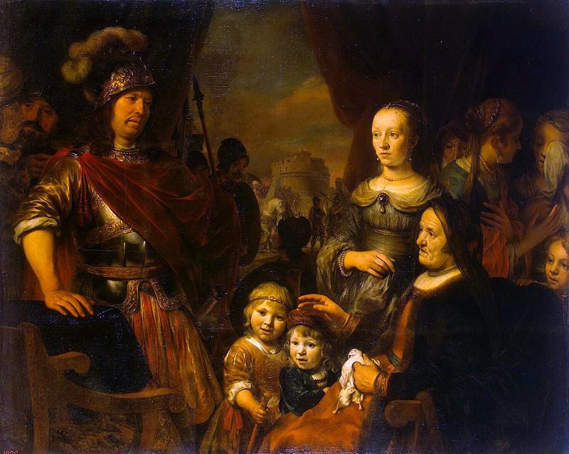 Ekhaut, Gerbrandt Jansz van den. Mother and wife of Coriolanus beg for mercy Rome. Hermitage ~ part 13