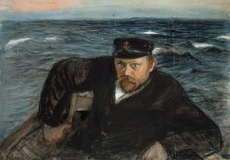 Enkel, Knut Magnus. The sailor at the wheel in the sea. Pilot. Hermitage ~ part 13