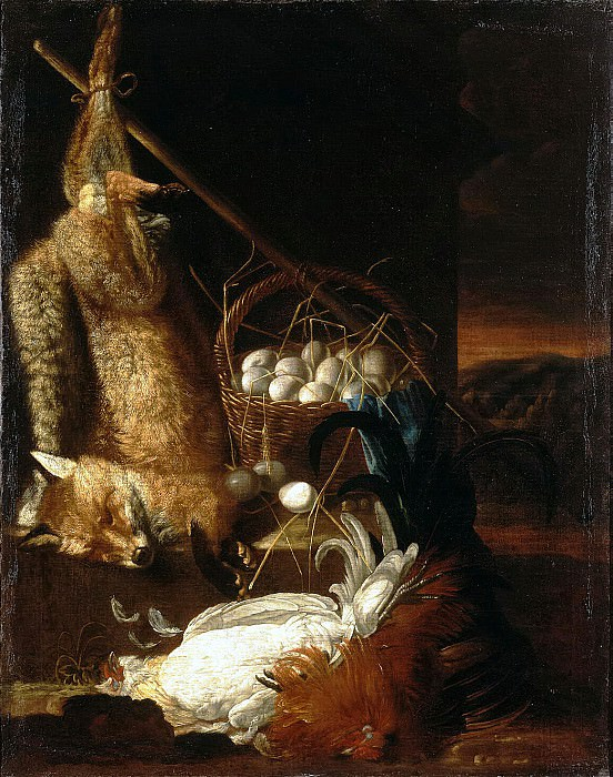 Hamilton, Philip Ferdinand. Still Life with whipped cocks and fox. Hermitage ~ part 13