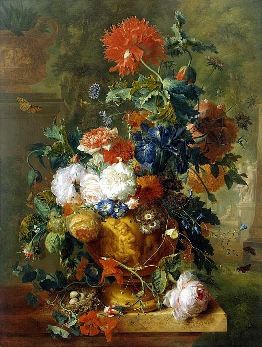 Huysum, Jan van. Flowers. Hermitage ~ part 13