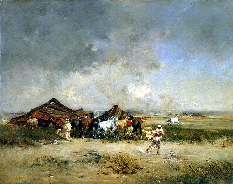 Hyugyue, Victor Pierre. Arab nomads. Hermitage ~ part 13