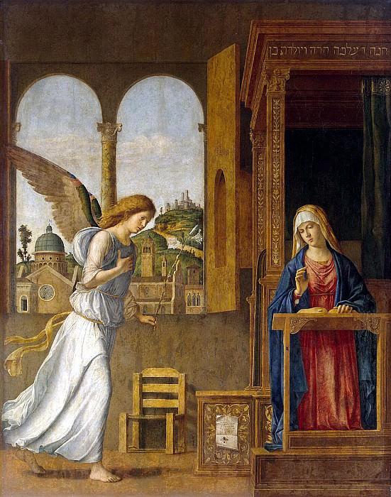 Cima da Conegliano, Giovanni Battista. Annunciation. Hermitage ~ part 13