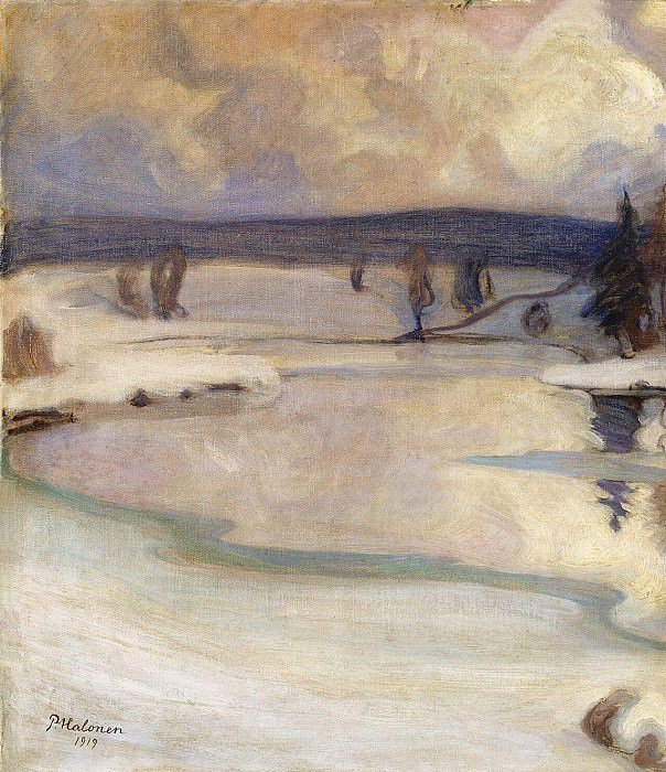 Halonen, Pekka. Winter landscape. Hermitage ~ part 13