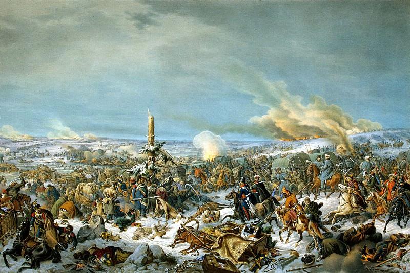 Hess, Peter von. Crossing of the Berezina. Hermitage ~ part 13