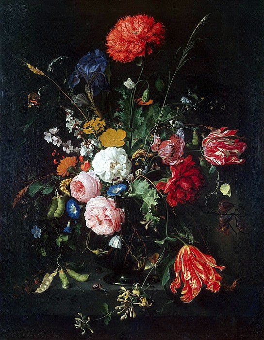 Heem, Jan De Davids. Flowers in a Vase. Hermitage ~ part 13