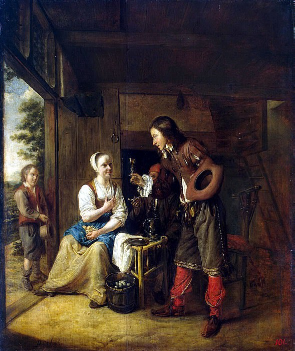 Hooch, Pieter de. The maid and soldier. Hermitage ~ part 13