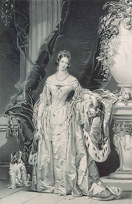 Shertle, Valentin. Portrait of Empress Alexandra Feodorovna. Hermitage ~ part 13