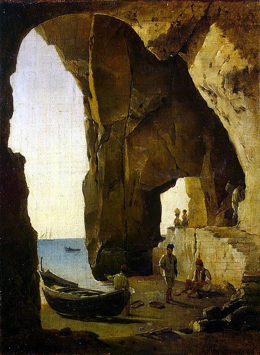 Shchedrin, Sylvester Fedosevich. Kind of a grotto in Sorrento. Hermitage ~ part 13
