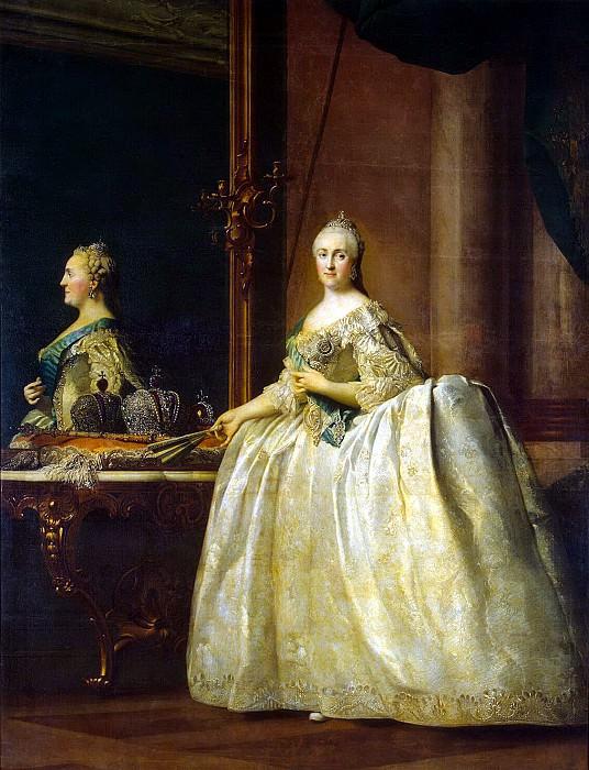 Eriksen, Virgilius. Portrait of Catherine II in front of a mirror. Hermitage ~ part 13