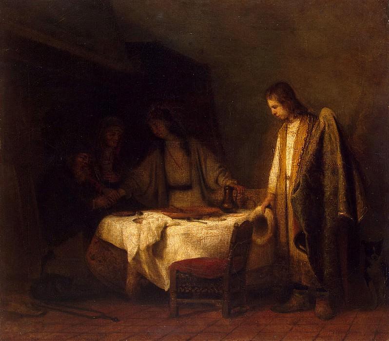 Hogstraten, Samuel Diercks van. Farewell Tobias with parents. Hermitage ~ part 13