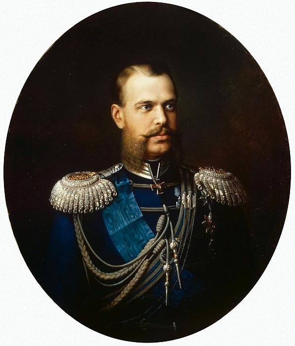 Hudoyarov, Vasily Pavlovich. Portrait of Grand Duke Tsarevich Alexander Alexandrovich. Hermitage ~ part 13